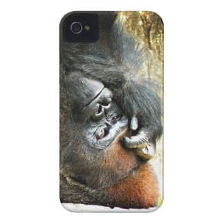 Lounging Gorilla BlackBerry Bold Case-Mate iPhone 4 Case