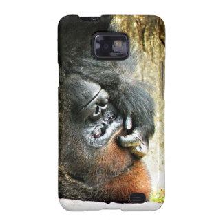 Lounging Gorilla Samsung Galaxy S Case Samsung Galaxy SII Covers