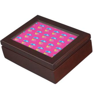 Lounging hot pink keepsake box