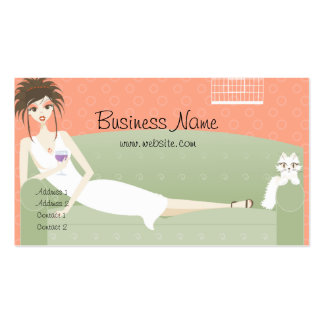 Lounging on the Couch with Kitty Business Card