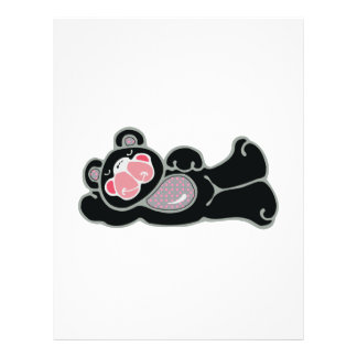 lounging pink and black bear full color flyer