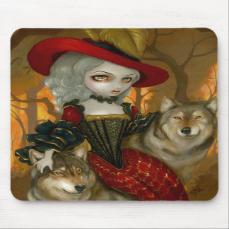 Loup-Garou: d'Automne gothic Wolf Rococo Mousepad