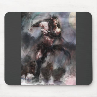 Loup Garou Leading A Pack To Freedom Mouse Mat