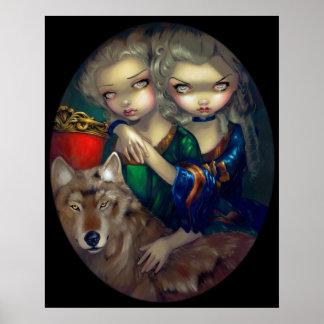 Loup-Garou: Les Jumeaux ART PRINT wolf vampire