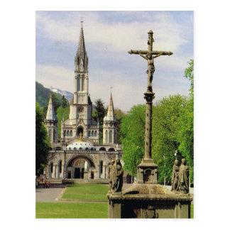 Lourdes, Church of the Rosary Postcard