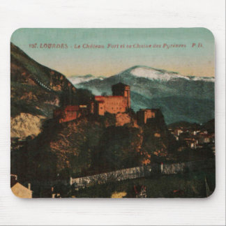 Lourdes Fort Chateau France postcard 1910 approx Mouse Pad