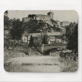 Lourdes Fort Chateau France postcard Mouse Pad