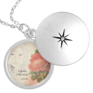 Lourdes Pilgrimage 2016 Round Locket Necklace