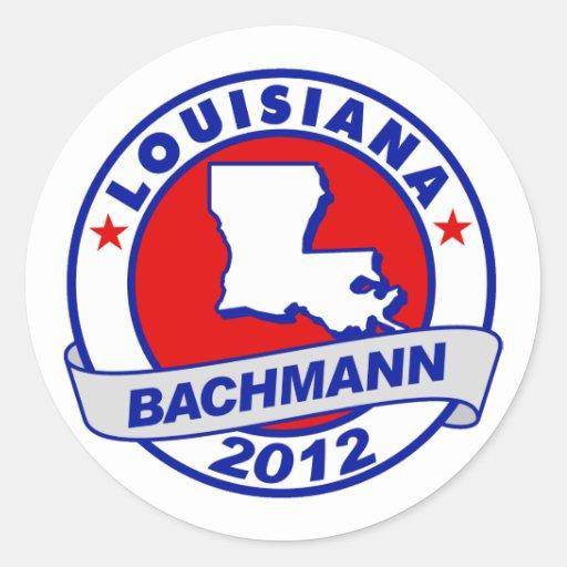 Lousiana Bachmann Round Sticker