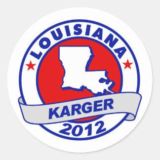 Lousiana Fred Karger Round Sticker