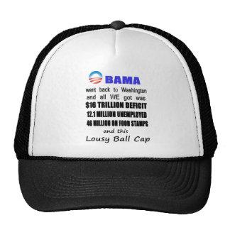 Lousy Obama Ball Cap Trucker Hat