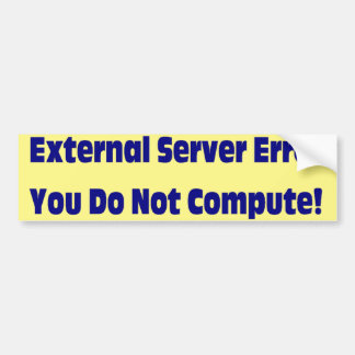 Lousy Service Bumper Sticker