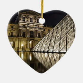 Louvre Pyramid 3 Christmas Ornament