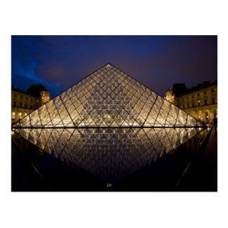 Louvre Pyramid by the architect I.M. Pei at Postcard
