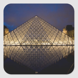 Louvre Pyramid by the architect I.M. Pei at Square Sticker