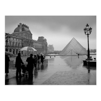 Louvre Romantic beautiful Postcard
