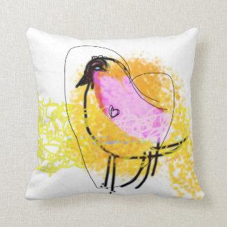 "Lov Chick Throw Pillow 16"" x 16"""