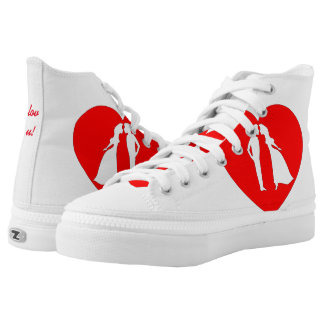 lov high top shoe printed shoes