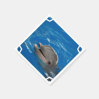Lovable Dolphin Disposable Serviettes