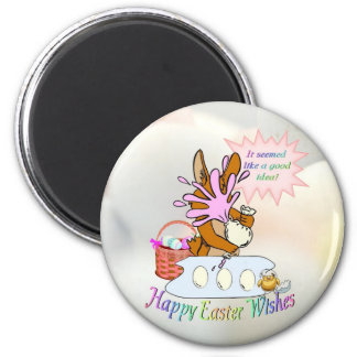 Lovable Happy Easter Wishes Magnet