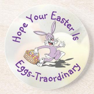 Lovable!! It's Easter Egg Hunting Season! Beverage Coasters