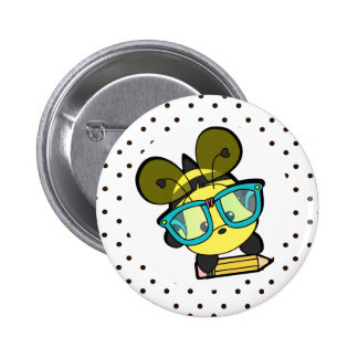 Lovable Smarty Bee 6 Cm Round Badge