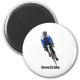 love2ride 6 cm round magnet
