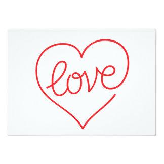 "LOVE (03) Signature: Matte 5"" x 7"" 13 Cm X 18 Cm Invitation Card"