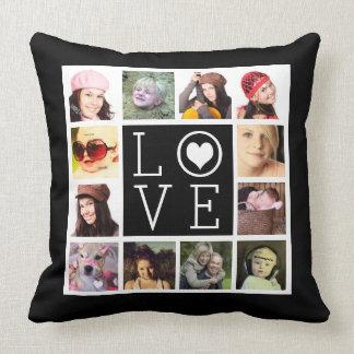 LOVE 12 Instagram Photo Collage Cushion