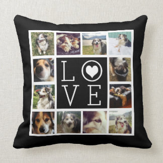 LOVE 12 Instagram Photo Collage Cushion