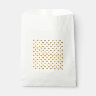Love 2018 White - Golden heart Favour Bags