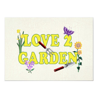 Love 2 Garden Graphic 13 Cm X 18 Cm Invitation Card