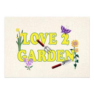 Love 2 Garden Graphic Personalized Announcement
