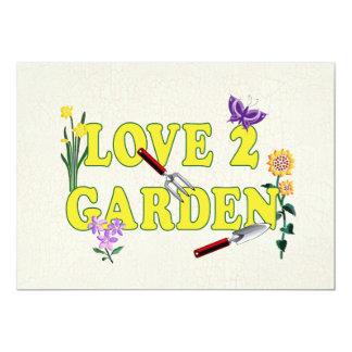 Love 2 Garden Graphic 5x7 Paper Invitation Card