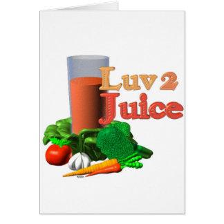 Love 2 Juice juicing design on 100+ Cards