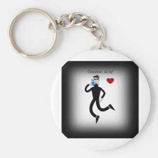 Love 2 basic round button key ring