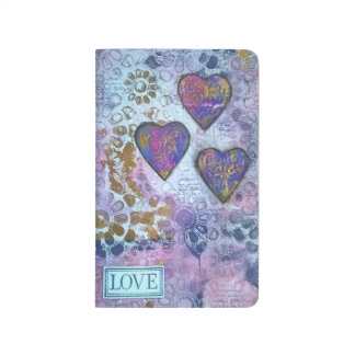 Love 3 hearts journal