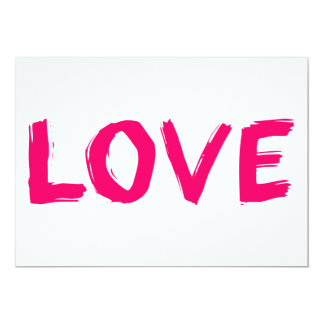 love-606686 PINK GIRLY LOVE WORD 13 Cm X 18 Cm Invitation Card