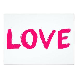 love-606686 PINK GIRLY LOVE WORD 13 Cm X 18 Cm Invitation Card