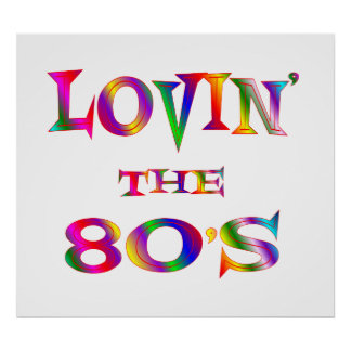 Love 80s Poster