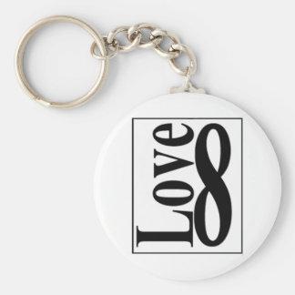 Love (8) Infinity Key Ring