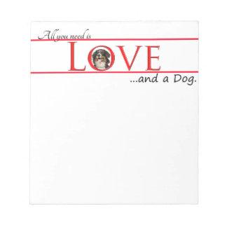 Love a Bernese Mt. Dog Note Pad