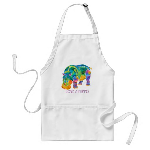Love A HIPPO Aprons