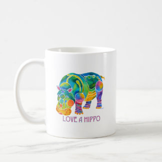 Love A HIPPO Coffee Mug