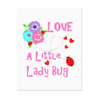 Love A Little Lady Bug Canvas Print