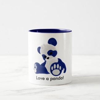 Love a panda! Two-Tone mug