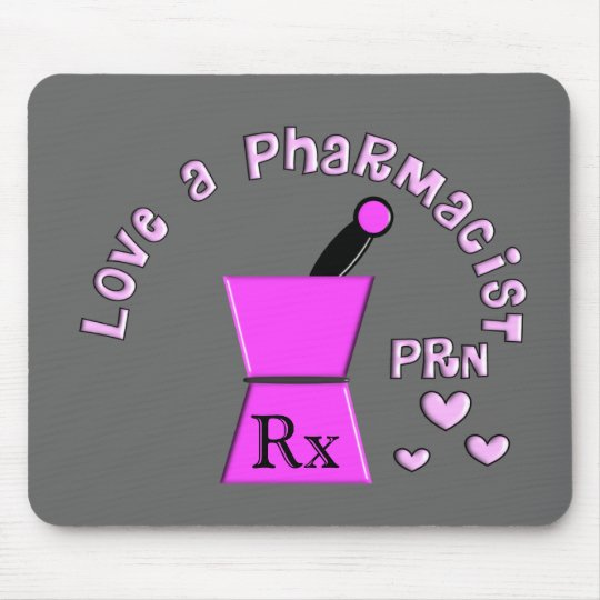 Love a Pharmacist PRN Pestle and Mortar Design Mouse Mat