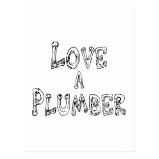 Love a Plumber Postcard