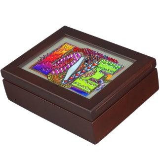 Love abstract floral art keepsake boxes