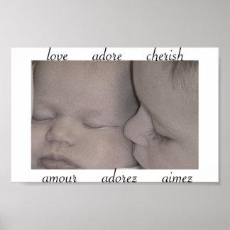 Love Adore Cherish Print